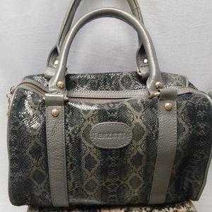 Terzetto embossed grey snakeskin purse